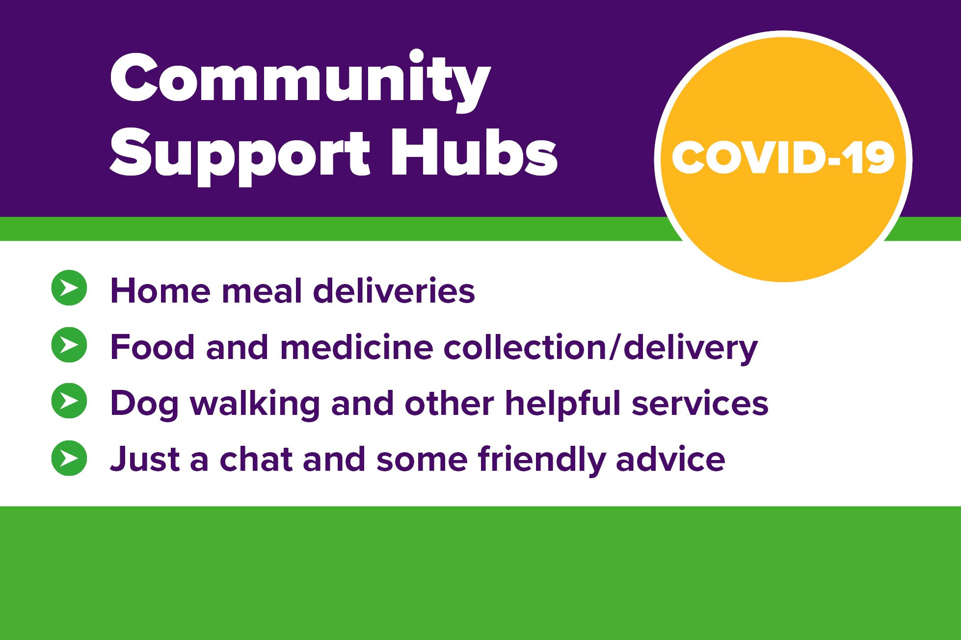 An image relating to Community hubs to support vulnerable residents