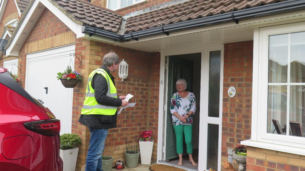 Delivering shopping to a resident