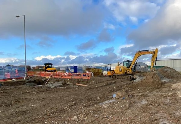 An image relating to New Romney business centre starts taking shape
